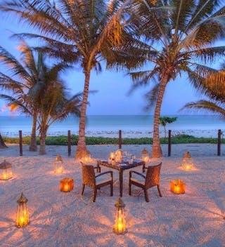 Romantic Beach Dining At Almanara Luxury Boutique Hotel Villas