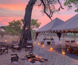 Chobe Under Canvas Campfire