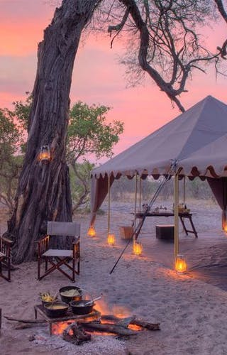 Chobe Under Canvas Campfire