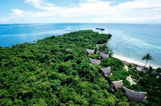 Chumbe Private Island Aerial View