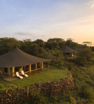 Elewana Loisaba Tented Camp Aerial View  Accommodation