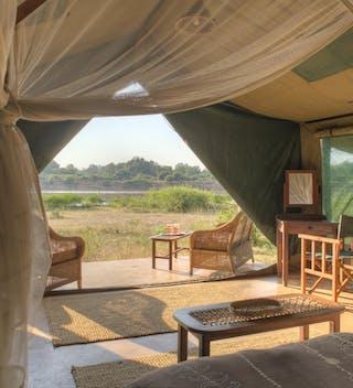 Flatdogs  Camp Luxury Tent Interior View
