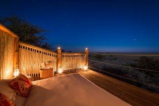 Kalahari  Plains  Camp Rooftop Star Bed