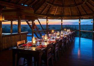Kalahari  Plains  Camp Sunset Dining