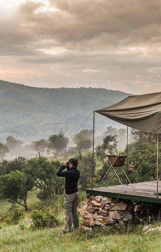 Karenge Bush Camp Tent Landscape
