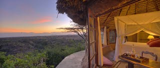 Lewa  Wilderness Bedroom Sunset