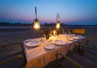Luangwa Bush Camping Dinner