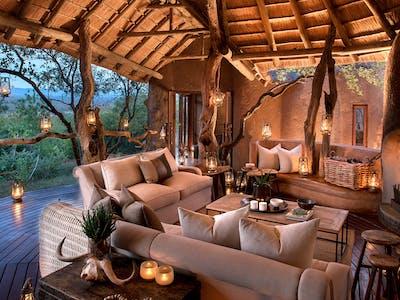 Madikwe Kopano Evening Fireplace