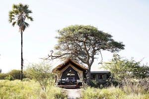 Camp  Kalahari Tent In Landscape