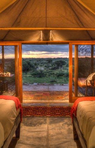Meno A Kwena Twin Room With View Dusk