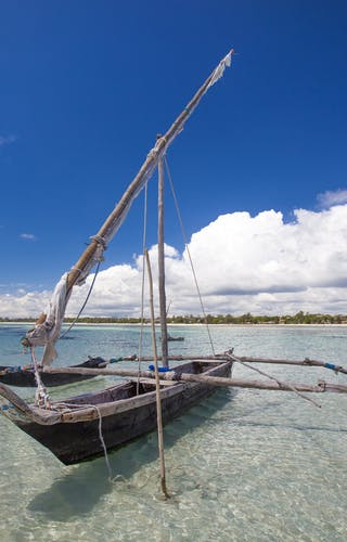 Kinondo Kwetu Hotel Traditional Sailing Galu Beach Diani Beach Kenya