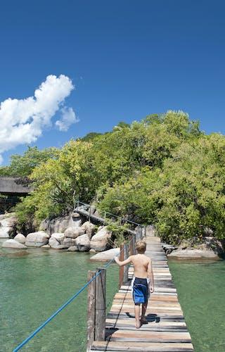 Mumbo Island Bridge And Child