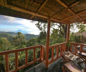 Nkuringo Bwindi Gorilla Lodge Dining Front Balcony