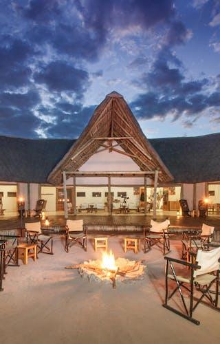 Nxai Pan Camp Evening Campfire