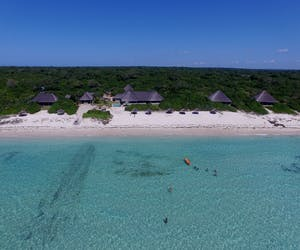 Ossimba Beach Lodge Aerial View