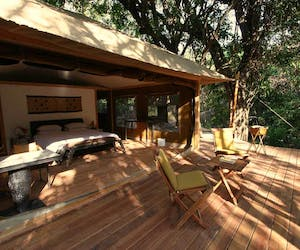 Rhino River Camp Room And Veranda View