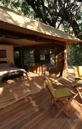 Rhino River Camp Room And Veranda View