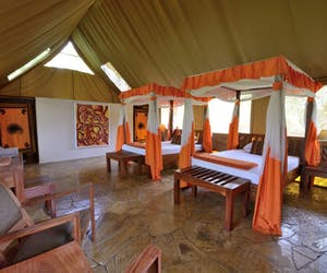 Selous Riverside Camp Twin Tent
