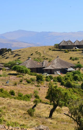 Simien Lodge From Small Hill