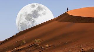 Sossusvlei Dune Moonrise