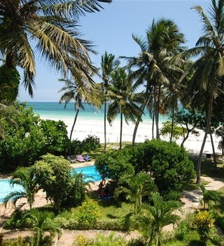 View From Mzuri Beach House Balcony