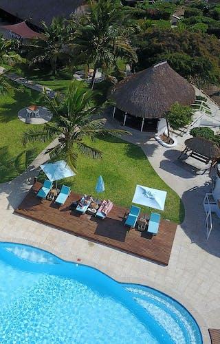 Vilanculos Beach Lodge Aerial View