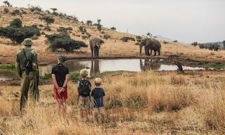 Walkign Safari Lewa House